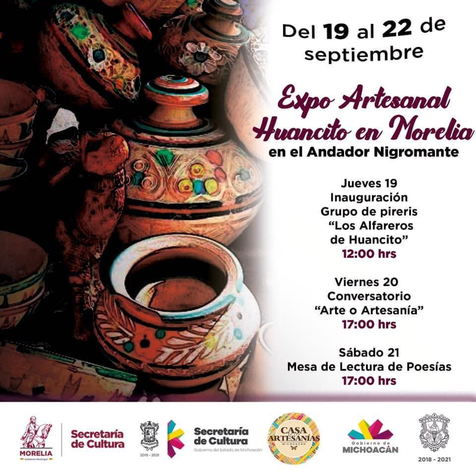 Secultura invita a la Expo Artesanal Huancito en Morelia