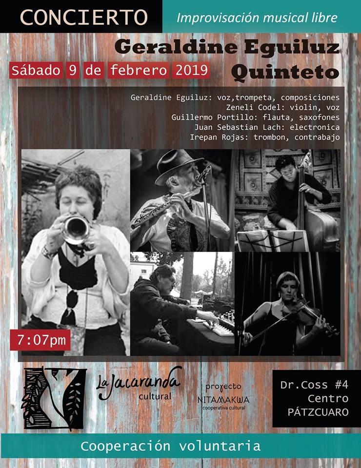 Concierto de Geraldine Eguiluz Quinteto