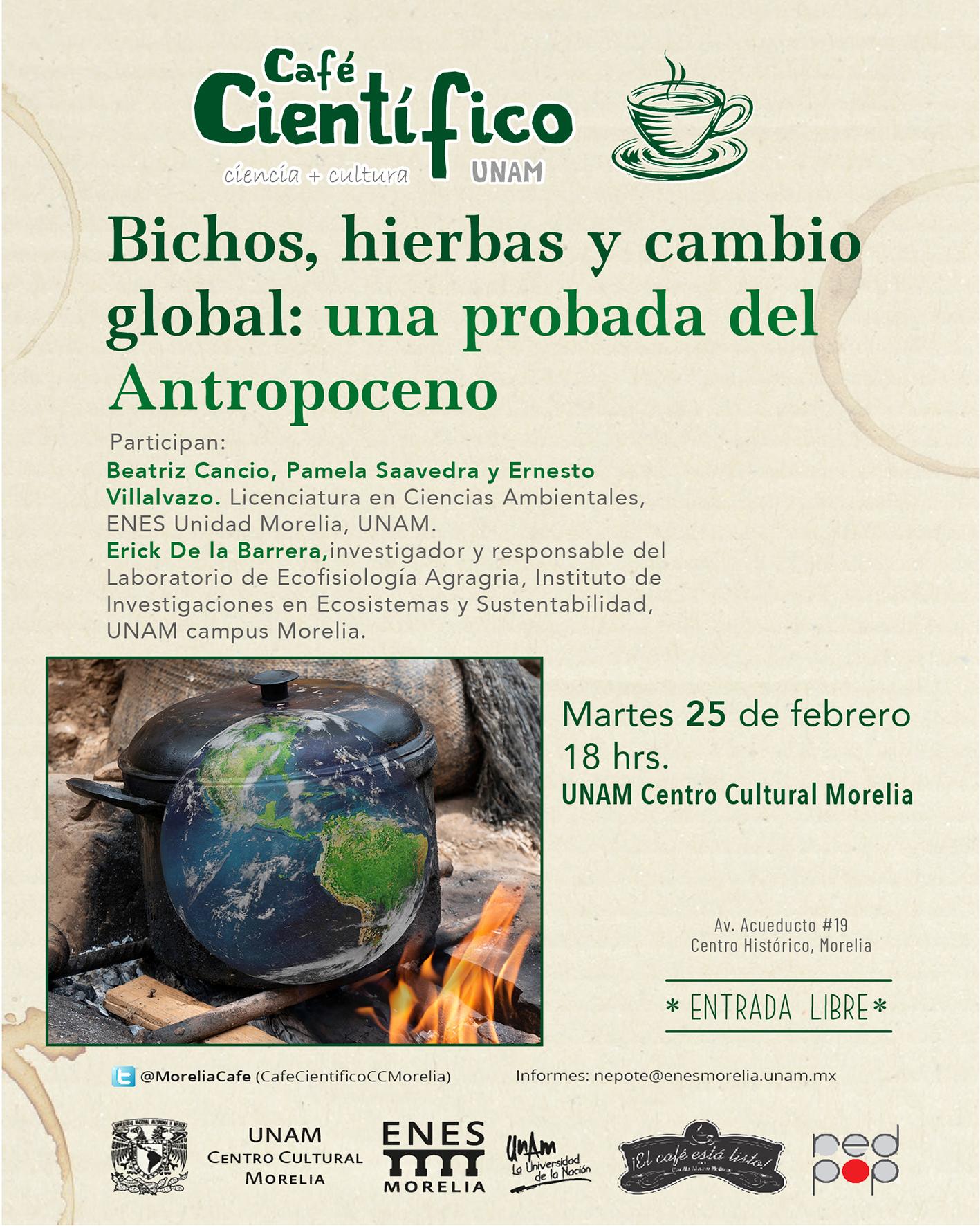 Cultura y soberanía alimentaria guiarán la charla del Café Científico en el Centro Cultural UNAM Morelia